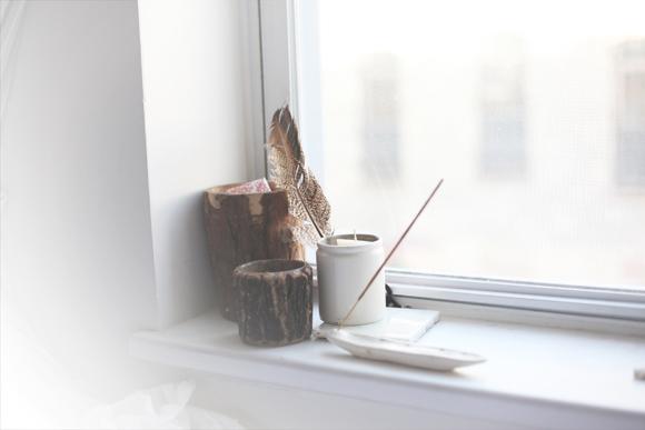 Incense-windowsill