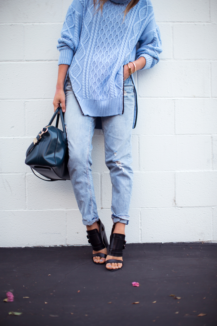 aimee_song_blue_turtleneck_sweater_boyfriend_jeans_givenchy_heels