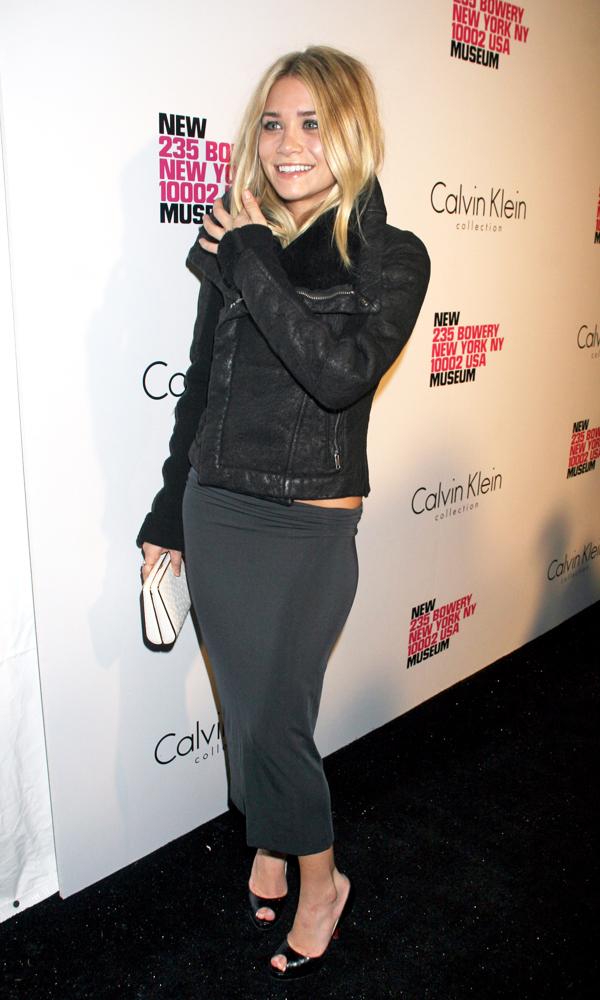 Olsens-Anonymous-Ashley-Olsen-Textured-Leather-Jacket-Full-Length-Event-Midi-Skirt-White-Clutch-Louboutin-Heel