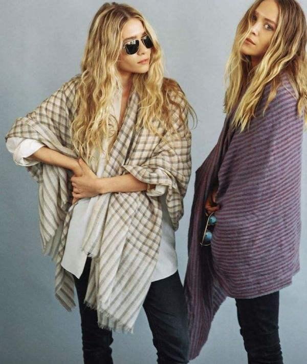 Olsens-Anonymous-Blog-Mary-Kate-Ashley-Olsen-Vogue-Germany-Plaid-Striped-Scarf-Wraps-Denim-Wavy-Hair