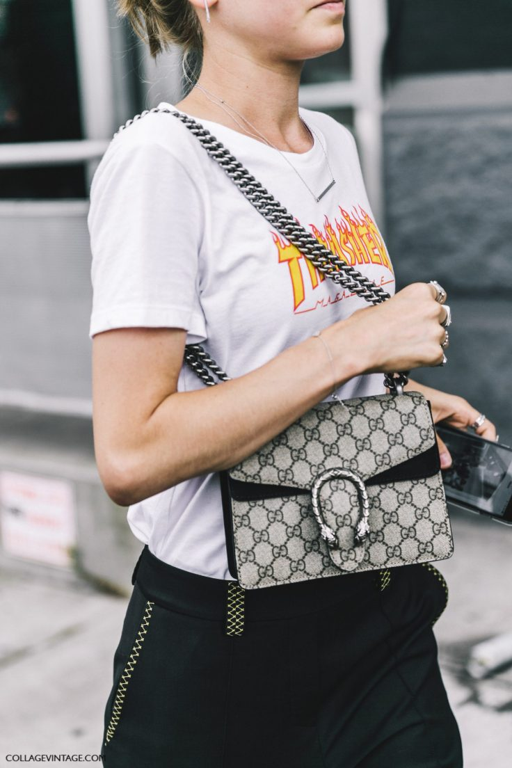 NYFW-New_York_Fashion_Week_SS17-Street_Style-Outfits-Collage_Vintage-Jessica_Minkoff-Earrings-Graphic_Tee-BLack_Trousers-Chloe_Sandals-Gucci_Bag-4-1600x2400.jpg